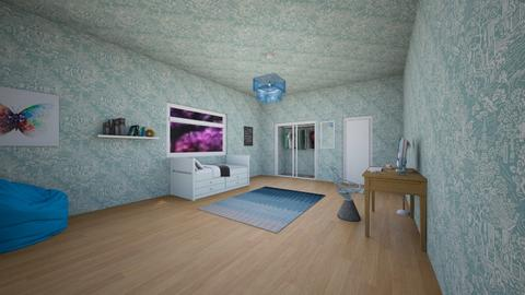Blue Bedroom - Bedroom  - by JF the roomstyler