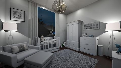 white nursery room - Classic - Kids room  - by somooon15