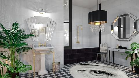 Art deco bathroom - Bathroom  - by RonRon