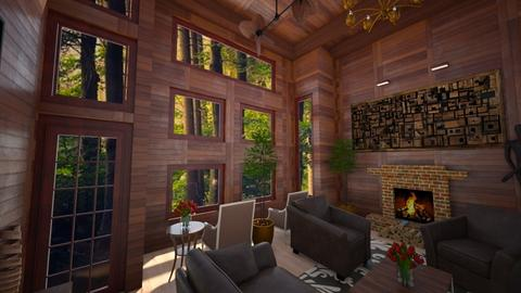 Cozy Wooden Cabin - Living room  - by nkanyezi