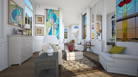 Vitrales victorianos - Classic - Living room  - by pachecosilv