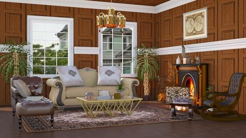Brown Victorian - Country - Living room  - by millerfam