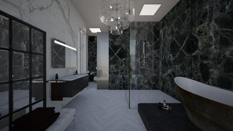 Glamour_bathroom noir - Bathroom  - by lovasemoke