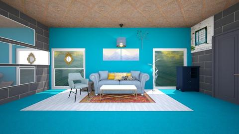 Turquoise life - Living room - by gefenkl