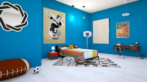 sports fan bedroom - Bedroom  - by Wensday