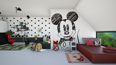 Mickey minimal - Kids room  - by meggle