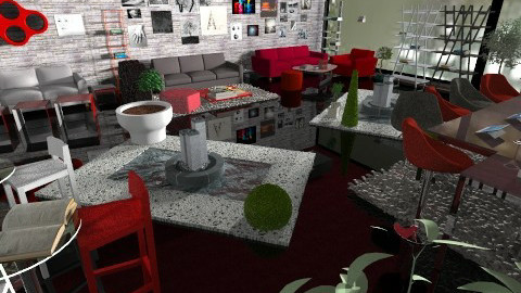 RED Themed Book Lounge - Glamour - by Teddyyy