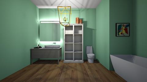 Green Bathroom - Eclectic - Bathroom  - by sophiefleah