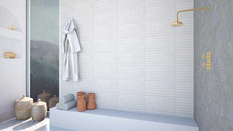 minimalistic shower - Minimal - Bathroom  - by aestheticXdesigns