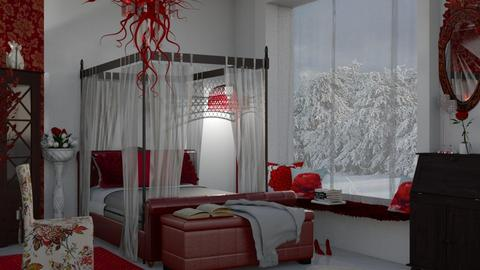 M_The red room - Bedroom  - by milyca8