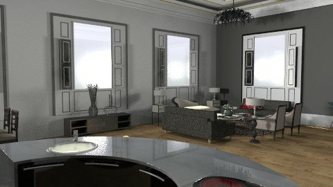 NYC Penthouse 2 - Glamour - Living room  - by camilla_saurus