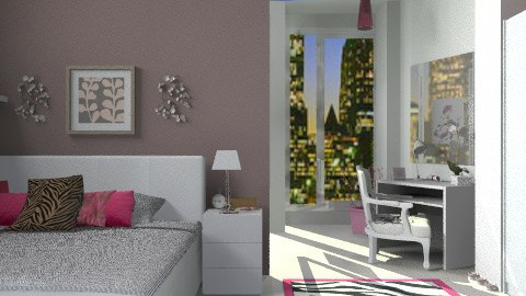 feminine room - Glamour - Bedroom - by sahfs