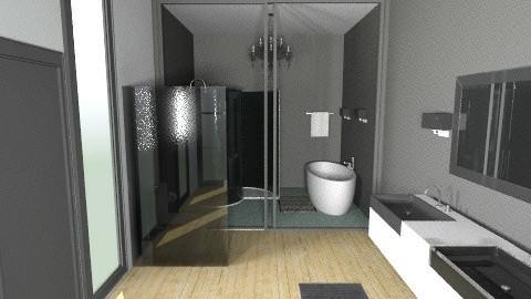 BlackBathroom - Modern - Bathroom  - by StienAerts