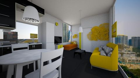 the mulya apartment - Modern - Bedroom  - by h347