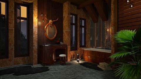 Dark Wood Bathroom II - Rustic - Bathroom - by Twilight Tiger
