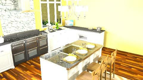 Sunny Kitchen - Classic - Kitchen  - by Rubeeees