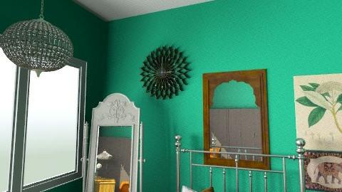 INDIAN BEDROOM1 - Rustic - Bedroom  - by ARQKMAC