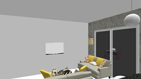 Kitchen Living Room V1 - Eclectic - Kitchen  - by nicolabcronin