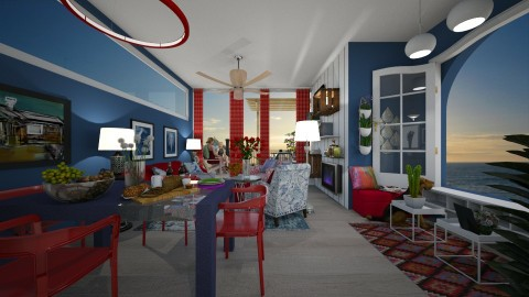 Red blue living - by kyarbrough5t