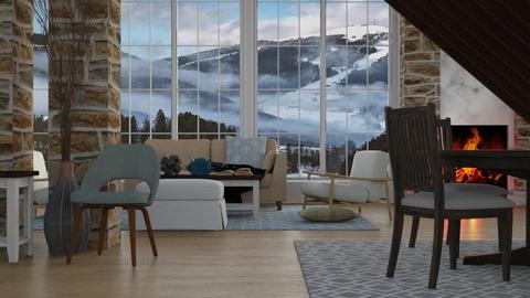 Alpine Winter - Rustic - Living room  - by millerfam