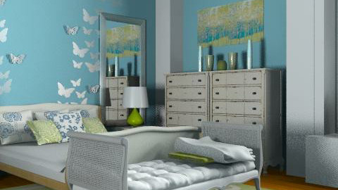 Blue and Green Serenity Bedroom - Classic - Bedroom  - by reedj0218