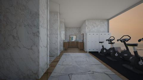 Gym locker room  - Modern - Bathroom  - by Pheebs09