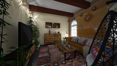 Bohemian - Living room  - by EwaT