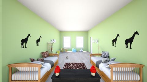 green and animals  - Kids room  - by 153178