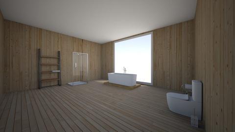 bathroom view of sunset - Modern - Bathroom  - by ItsClodagh