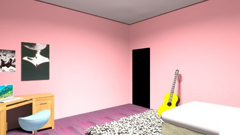 Teen Bedrom - Retro - Bedroom - by jasmine_tanton
