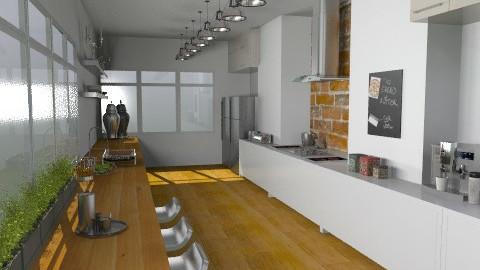 Designer Galley - Modern - Kitchen  - by camilla_saurus