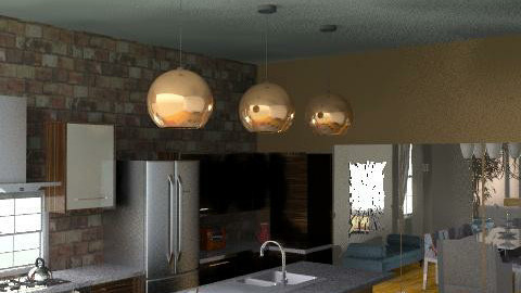 612 kitchen to dining room - Rustic - Kitchen  - by 4millers and a mut