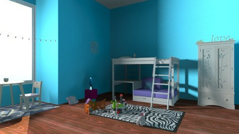 Modern Princess 2 - Glamour - Kids room  - by roxyroller96