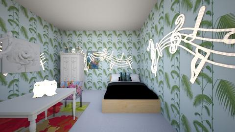 The Green or Nature Room - Bedroom  - by Queen Nyny