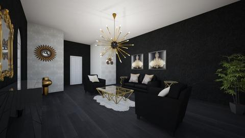 Freestyle black gold  - Modern - Living room - by Christine Ward_877
