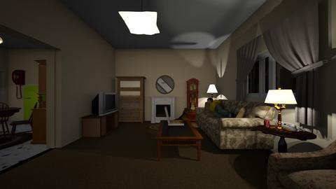 Living Room Night - Living room  - by WestVirginiaRebel