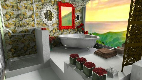 Pin Up Bathroom - Vintage - Bathroom  - by FranChi