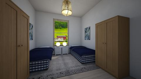 Blue and white - Country - Bedroom  - by Twerka