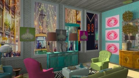 Berlin Flat - Glamour - Living room - by deesdesigns