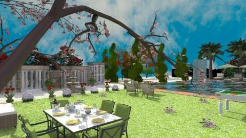 modern palace - Modern - Garden  - by lamzoi
