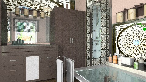 Dark Wood - Modern - Bathroom  - by Bibiche