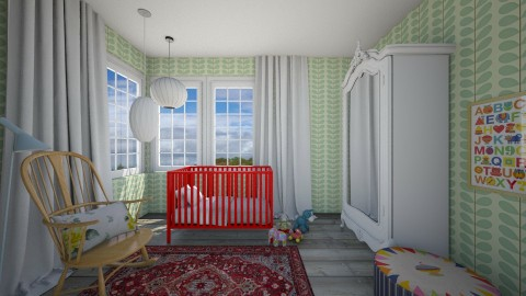 Nursery for Sarah - Eclectic - Kids room  - by 3rdfloor