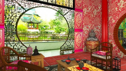 Concubine Pavillon - Classic - Living room - by Bibiche