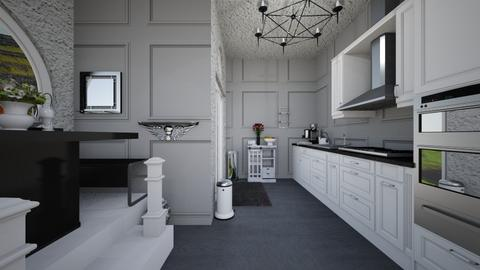 Gloom and Bloom View 4 - Modern - Kitchen  - by Avril55