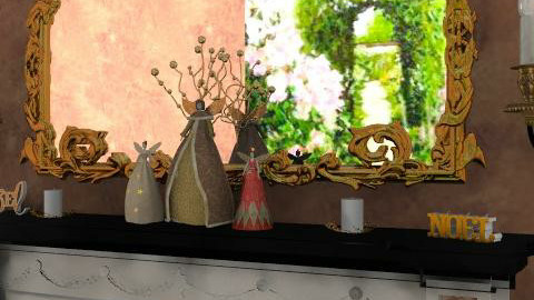 Gold Christmas Detail - Glamour - Living room  - by camilla_saurus