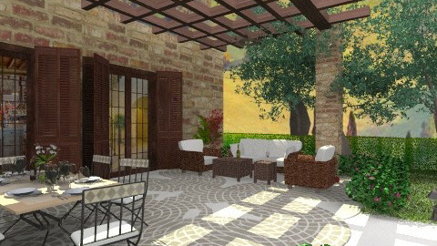Patio I_ - Garden  - by _Taz_