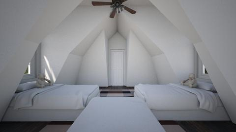 Simple Attic Room 3 - Bedroom  - by SammyJPili