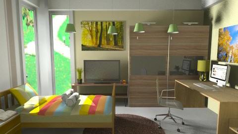 Green bedroom - Modern - Bedroom - by anjuska9