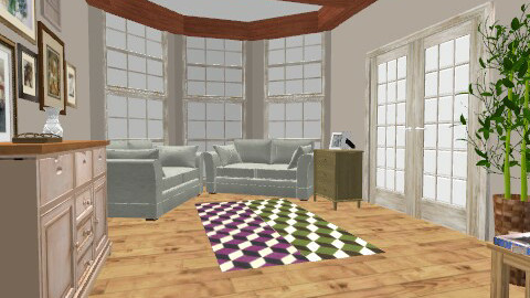 Beamed Living Room - Country - Living room  - by BambooPenguin