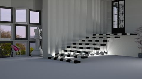 chess stairs - Living room  - by nat mi